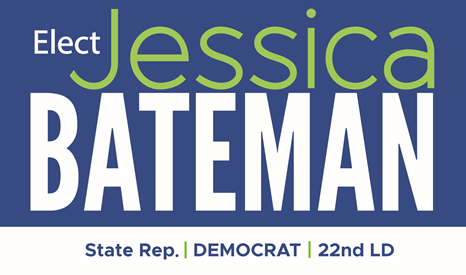 Elect Jessica Bateman State Rep Democrat 22nd LD, Olympia, Lacey, Tumwater, South Bay, and Boston Harbor